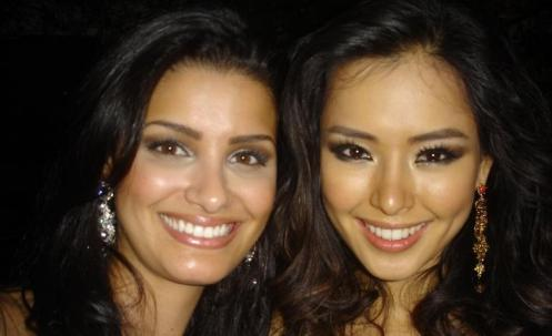 - Com a Miss Coréia 2007, Honey Lee