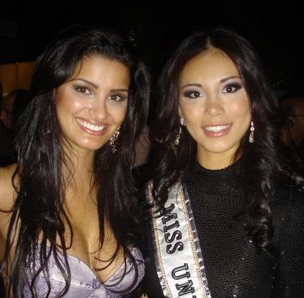 -Com a Miss Universo 2007, a japonesa, Riyo Mori