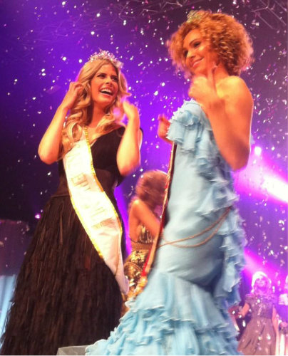 Miss Netherlands Universe (left), and Miss Netherlads World (right) for 2013